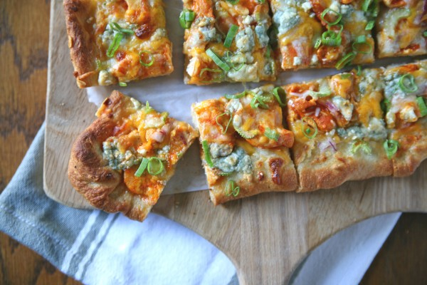 Buffalo Chicken Pizza | BourbonAndHoney.com
