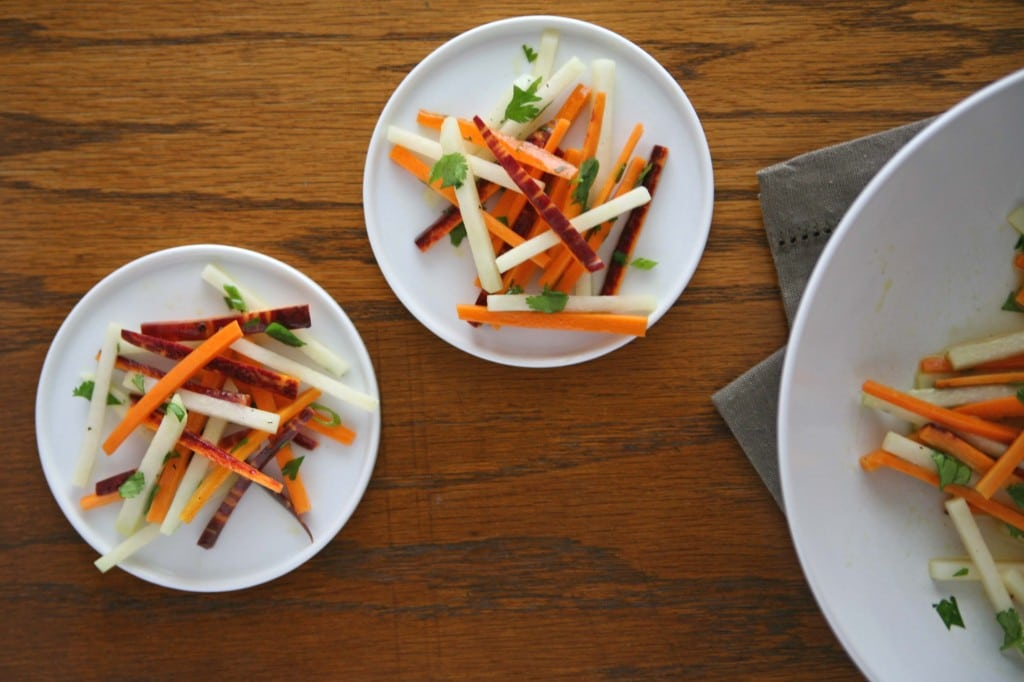 Carrot and Kohlrabi Salad | BourbonAndHoney.com