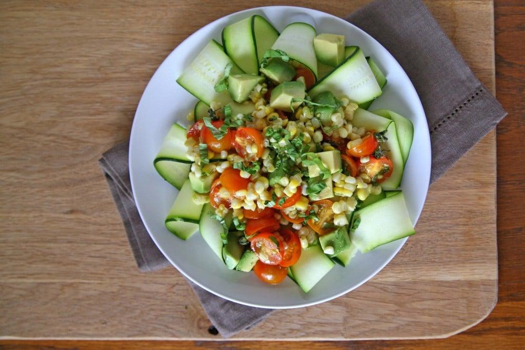 Fresh Zucchini Salad | BourbonAndHoney.com