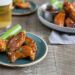 Bourbon and Honey Baked Chicken Wings | BourbonandHoney.com -- These Bourbon and Honey Baked Chicken Wings are sticky, messy, boozy and oh so flavorful! They're perfect for game day, or any-day!