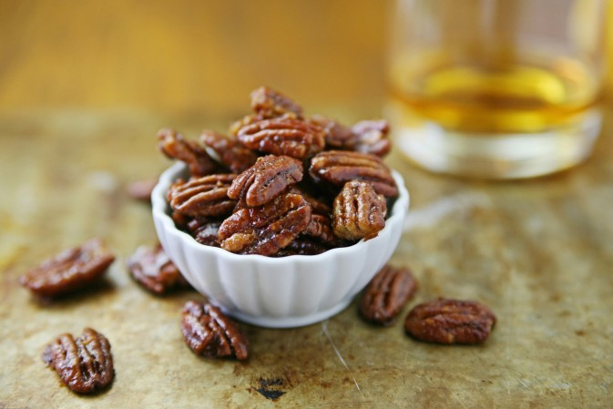 Bourbon and Honey Glazed Pecans | BourbonAndHoney.com