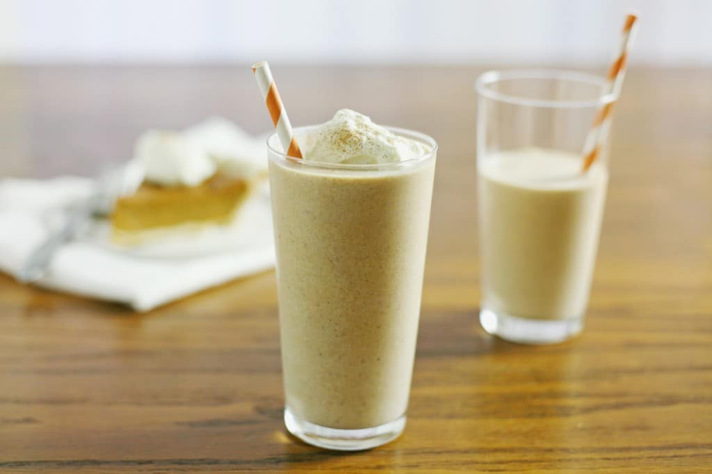 Cinnamon-Pumpkin Pie Milk Shakes