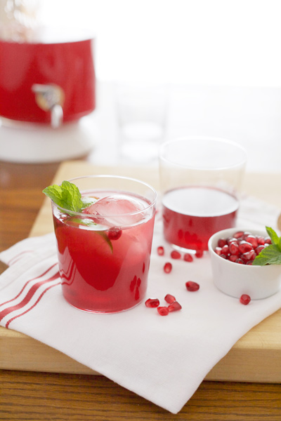 Bourbon Pomegranate Punch | BourbonAndHoney.com