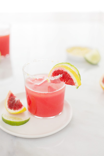 Blood Orange Margaritas | BourbonandHoney.com