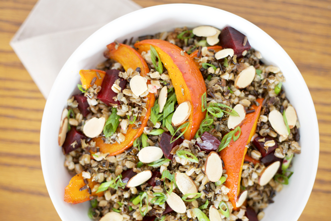 Roasted Red Kuri Squash and Wild Rice Salad | BourbonAndHoney.com