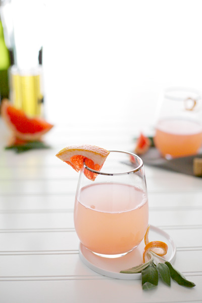 Sage and Grapefruit Mimosa | BourbonAndHoney.com