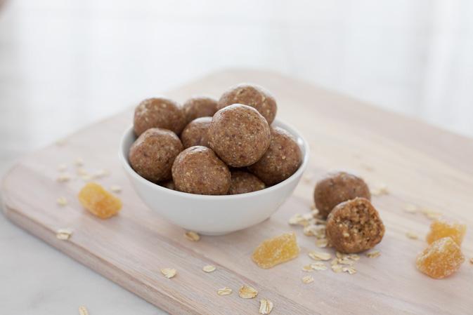 Ginger No-Bake Date Balls