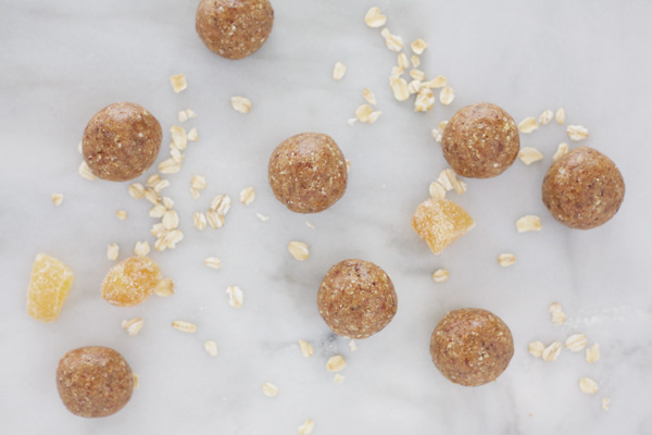 Ginger No-Bake Date Balls | BourbonandHoney.com