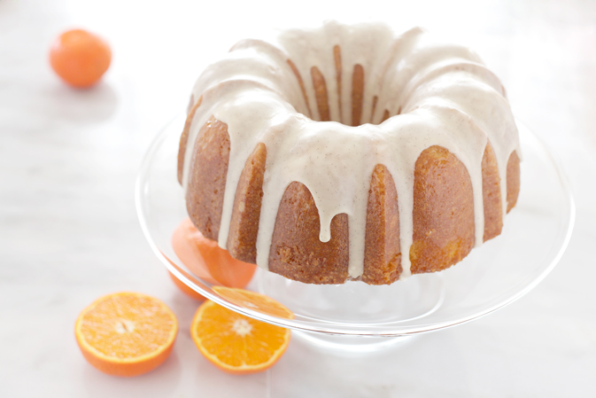 Tangerine Buttermilk Cake with Vanilla Bean Icing