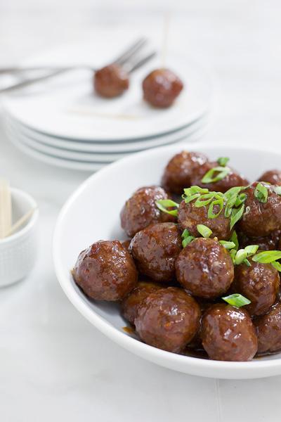 Bourbon and Honey Glazed Meatballs | BourbonandHoney.com