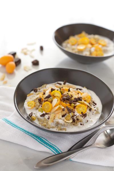 Coconut Quinoa Breakfast Bowls | BourbonandHoney.com