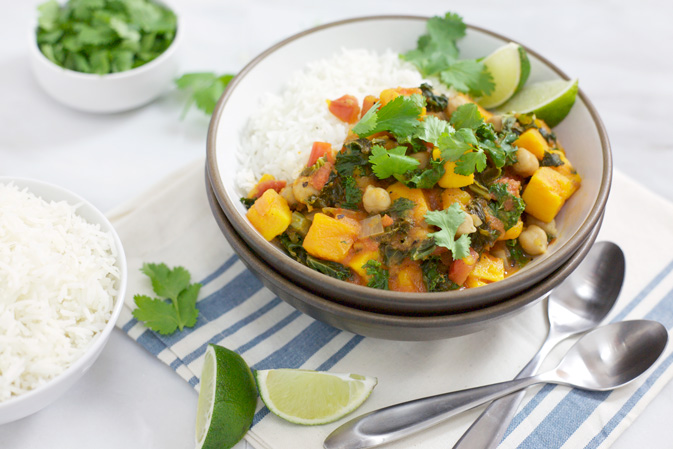 Slow Cooker Sweet Potato Curry with Chickpeas