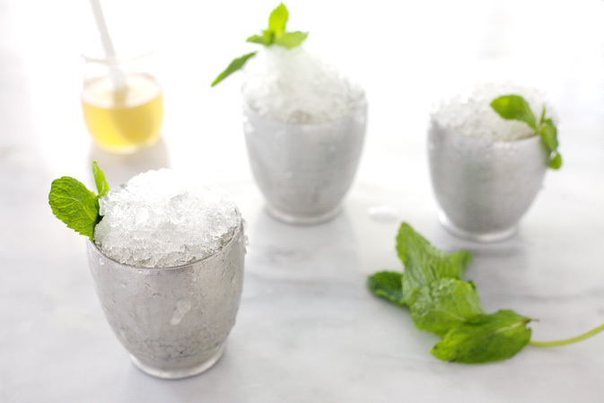 Bourbon and Honey Mint Julep