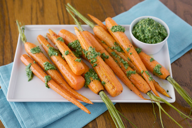 Roasted Carrots with Pepita and Parsley Pesto