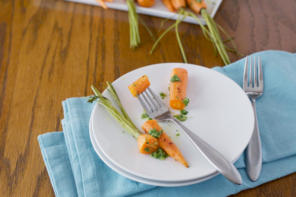 Roasted Carrots with Pepita and Parsley Pesto | BourbonAndHoney.com