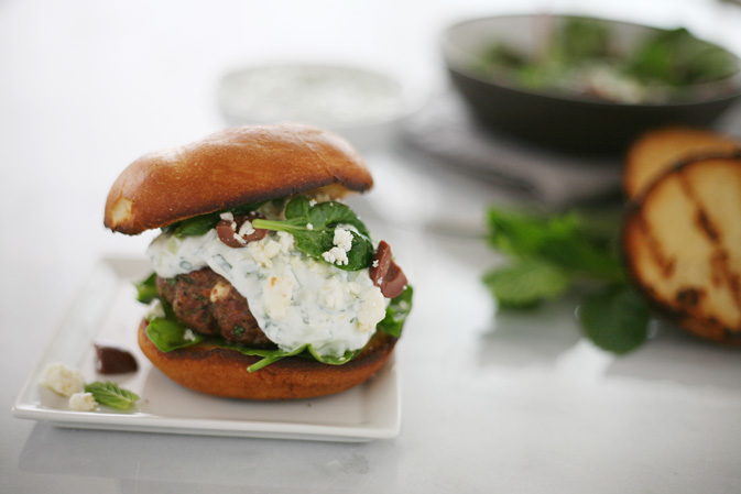 Lamb Burgers with Tzatziki Sauce
