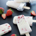 Strawberry and Cream Frozen Pops | BourbonAndHoney.com