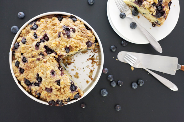 Lemon Blueberry Coffee Cake | BourbonAndHoney.com