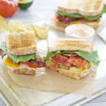 Avocado BLT Sandwiches with Spicy Aioli | BourbonandHoney.com