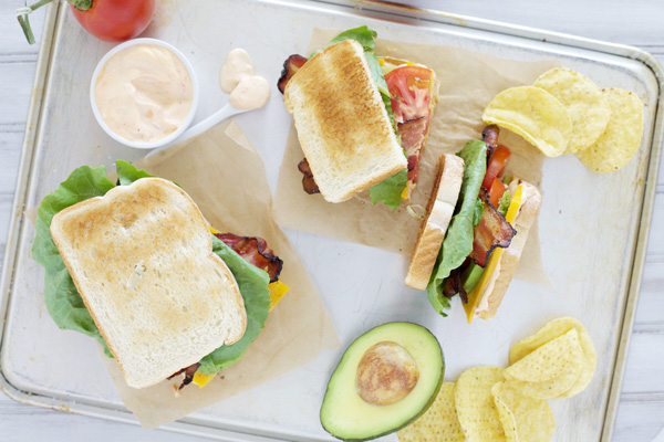 Avocado BLT Sandwiches with Spicy Aioli
