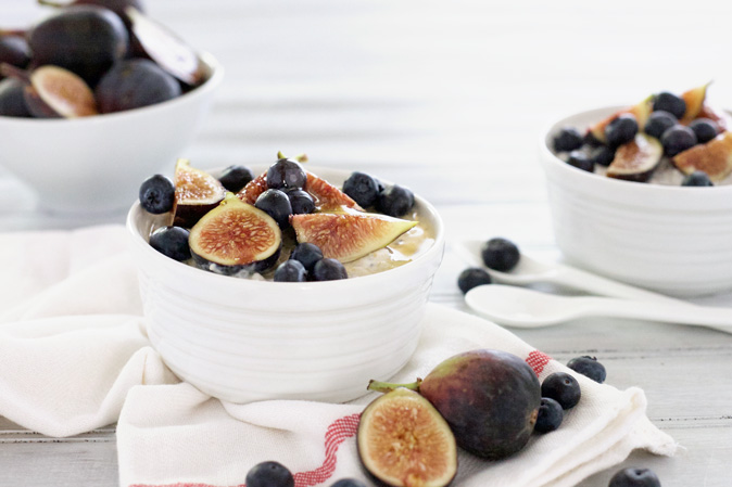 Blueberry Fig Overnight Oatmeal