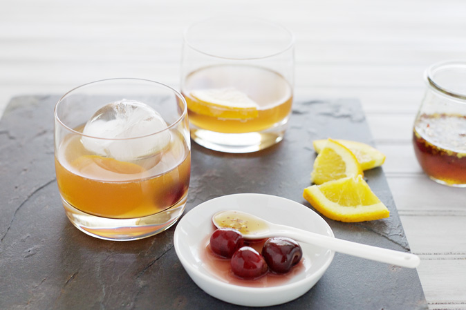 Bourbon and Hot Honey Cocktail
