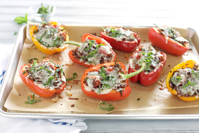 Caprese Quinoa Stuffed Peppers