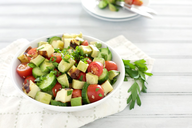 Cucumber, Avocado and Tomato Salad