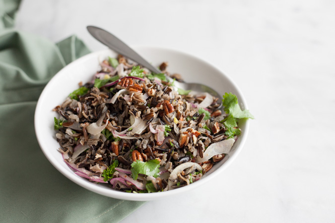 Wild Rice Salad with Pecans