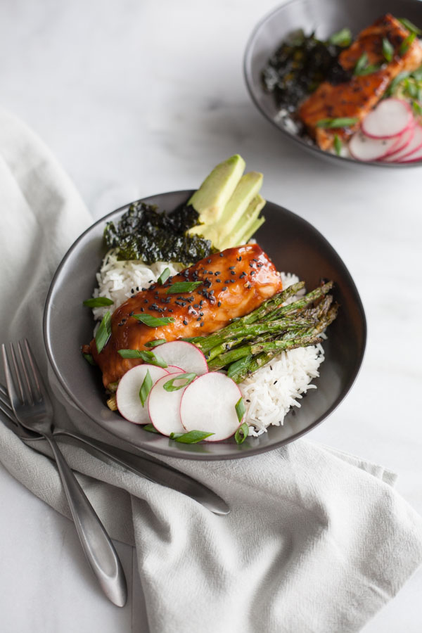 Soy Glazed Salmon Rice Bowl Bourbon And Honey