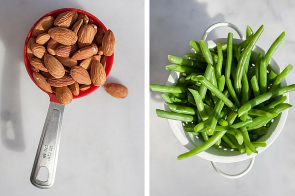 Green Beans with Almonds, Shallot and Garlic | BourbonandHoney.com