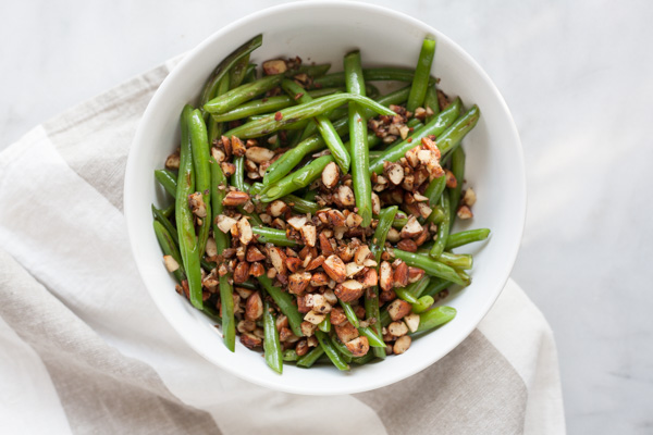 Green Beans with Almonds, Shallots and Garlic | Bourbon ...