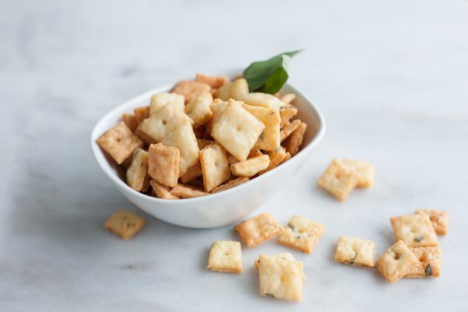 Sage and Fontina Crackers