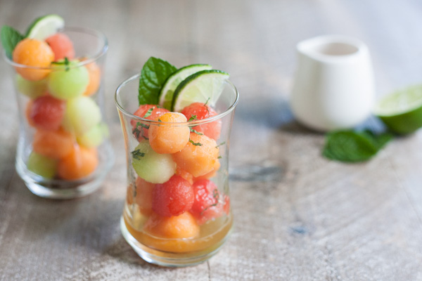 Bourbon and Honey Melon Balls