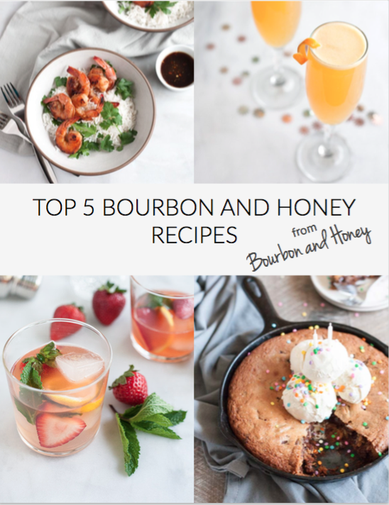 Top Bourbon and Honey Recipes eCookbook Cover | BourbonandHoney.com