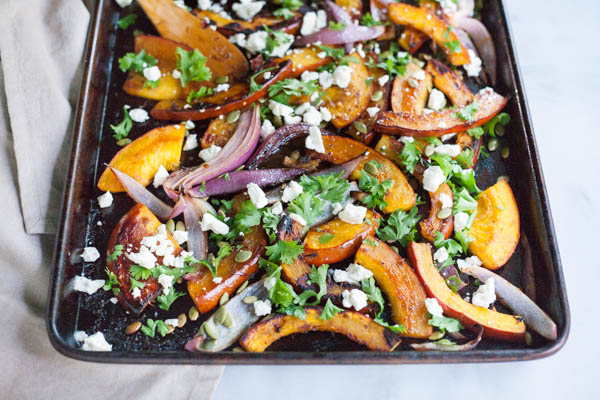 Spicy Roasted Pumpkin with Honey and Feta