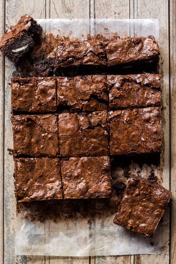 Oreo Stuffed Double Chocolate Brownies | My Food Story