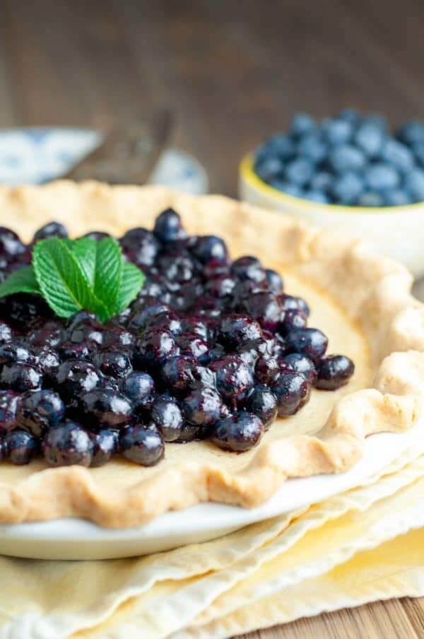 Blueberry Buttermilk Pie | MamaGourmand