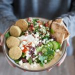Mediterranean Falafel Bowls | BourbonandHoney.com -- Fresh, flavorful and oh so delicious these Mediterranean Falafel Bowls are an awesome recipe for lunch or a tasty light dinner!