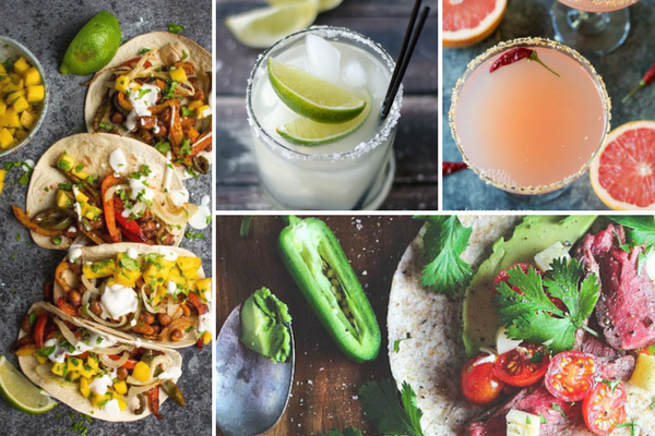18 Tacos and Margaritas for Cinco de Mayo | BourbonandHoney.com -- Pair the perfect tasty taco with a boozy margarita with this collection of party ready recipes and cocktails for Cinco de Mayo!