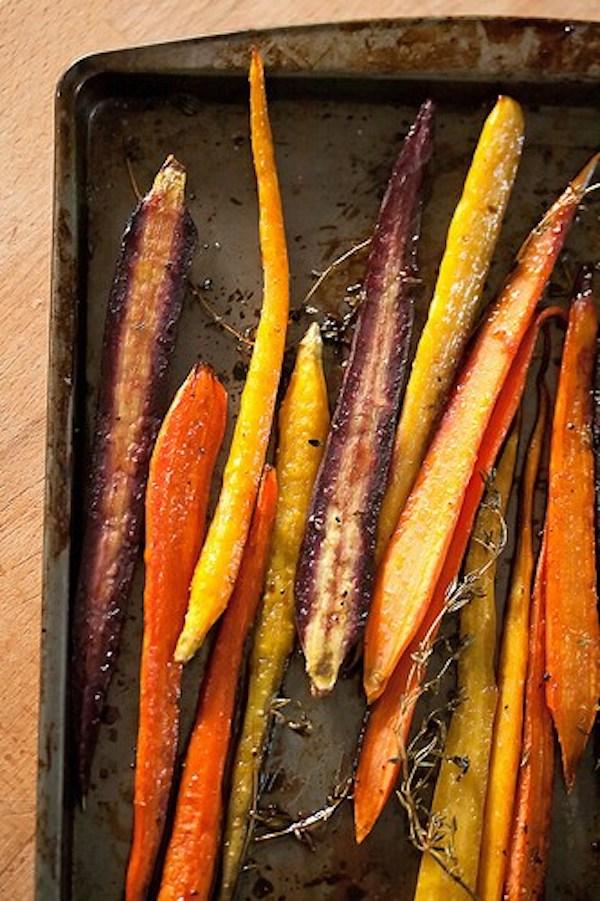 Balsamic Roasted Carrots | Crumb Blog