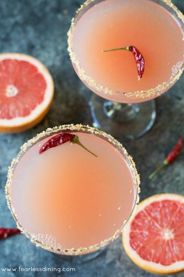 Pink Grapefruit Margarita | Fearless Dining