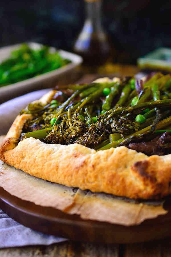 Spring Vegetable Vegan Galette | Cilantro and Citronella