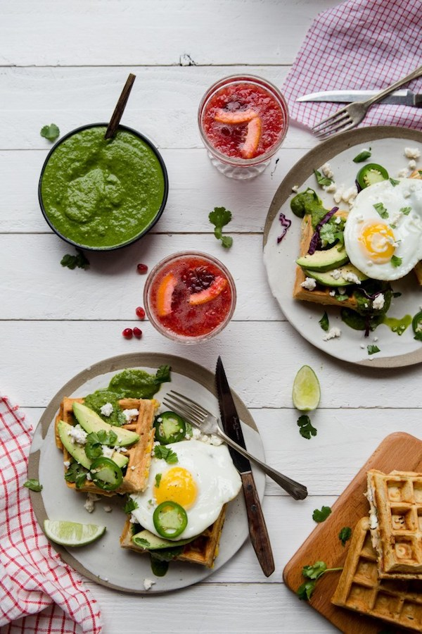 Savory Mexican Waffles from My Kitchen Love
