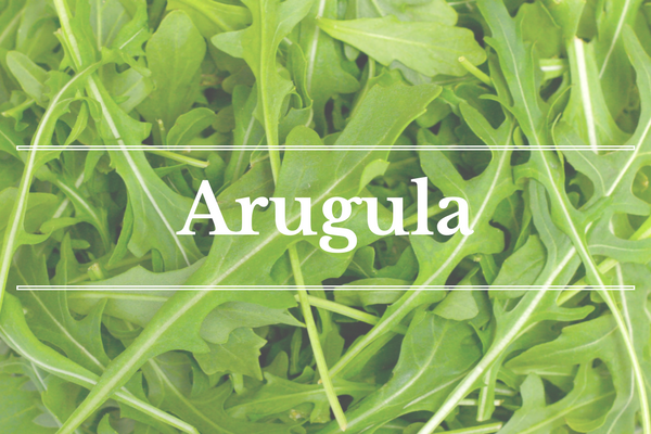 What's in Season: Arugula | BourbonandHoney.com --From apricots, arugula and kohlrabi to strawberries and peas this 'What's in Season' feature is a collection of the best fruits, veggies and recipes for the month of May.
