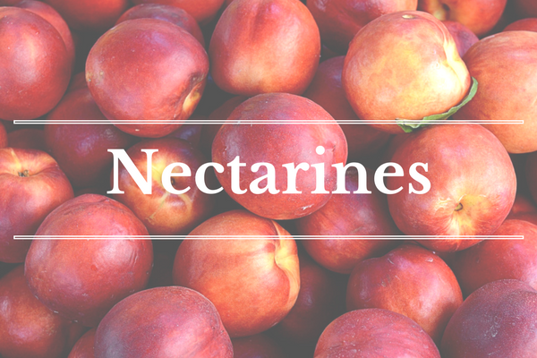 What's in Season: Nectarines | BourbonandHoney.com --From apricots, arugula and kohlrabi to strawberries and peas this 'What's in Season' feature is a collection of the best fruits, veggies and recipes for the month of May.
