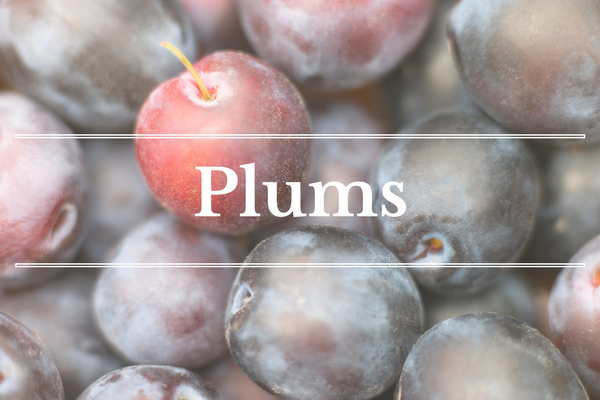 What's in Season: Plums | What's in Season: May | BourbonandHoney.com --From apricots, arugula and kohlrabi to strawberries and peas this 'What's in Season' feature is a collection of the best fruits, veggies and recipes for the month of May.
