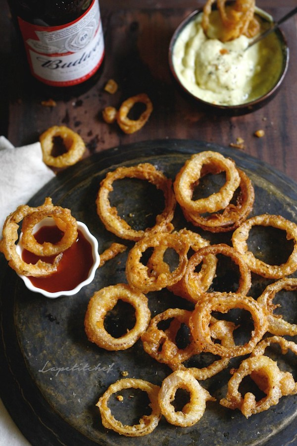 Beer Battered Onion Rings | La Petit Chef