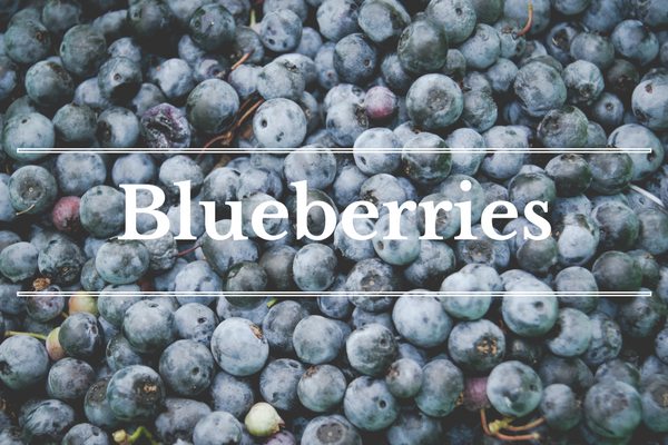 What's in Season: Blueberries | BourbonandHoney.com -- From mangosand cucumbersto blackberriesand swiss chardthis 'What's in Season' feature is a collection ofthe best fruits, veggies and recipes for the month of June.