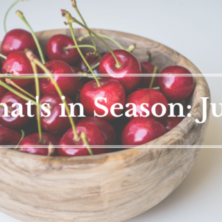 What's in Season June | BourbonandHoney.com -- From mangosand cucumbersto blackberriesand swiss chardthis 'What's in Season' feature is a collection ofthe best fruits, veggies and recipes for the month of June.
